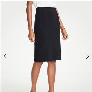 Ann Taylor Black Side Zip Pencil Skirt size 0